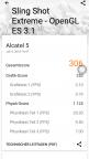 Screenshot benchmark Alcatel 5