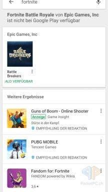 Fortnite Google Play Store Warnung