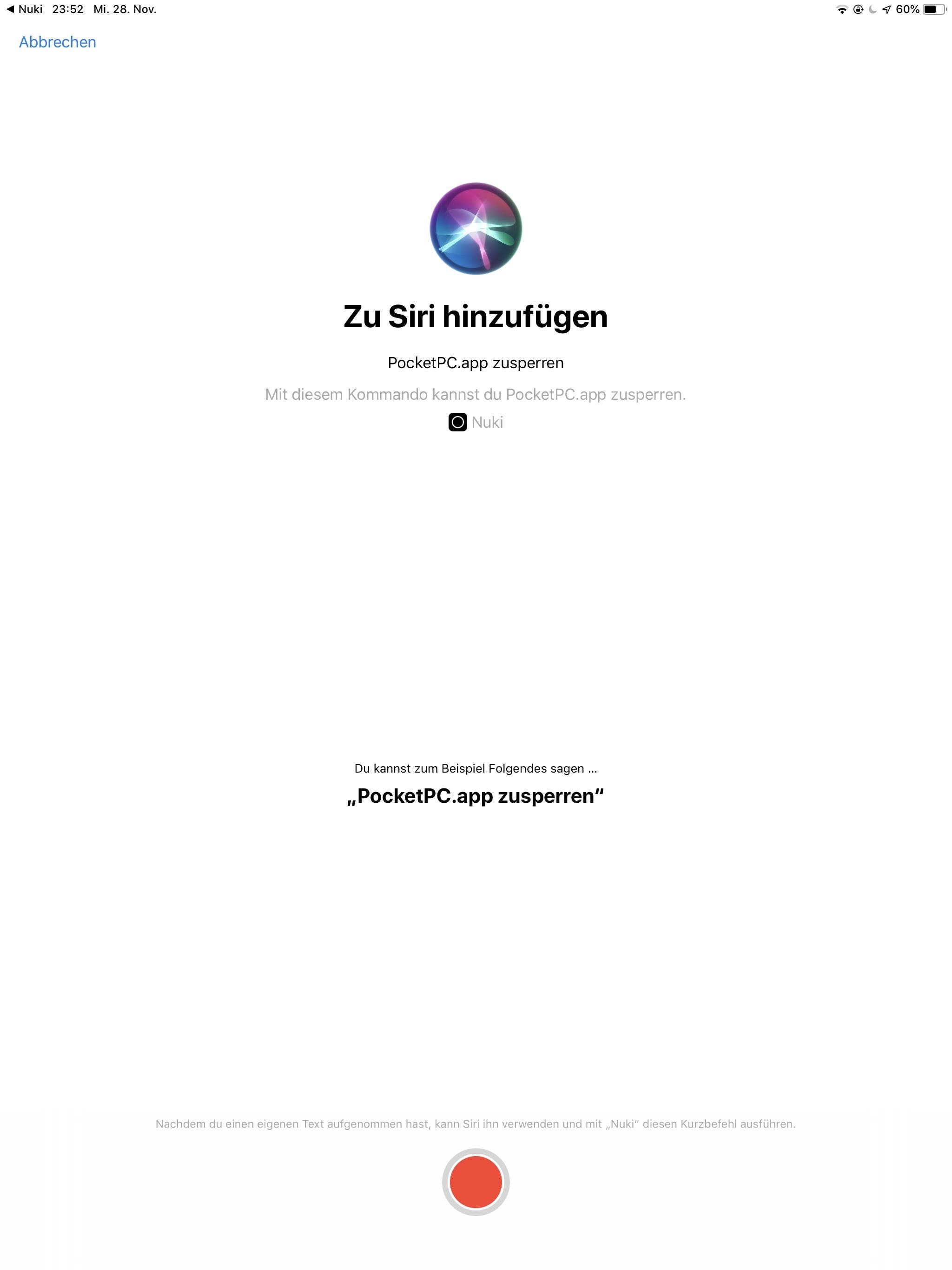 Screenshot Nuki 2.0 Smart Lock