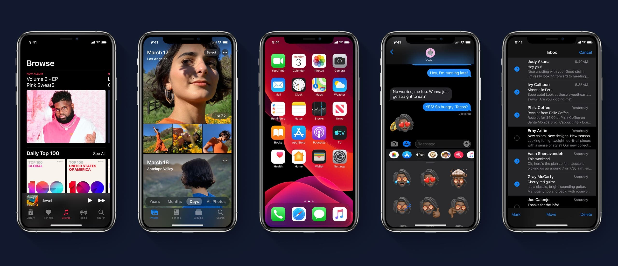 Apple iOS 13 Dark Mode