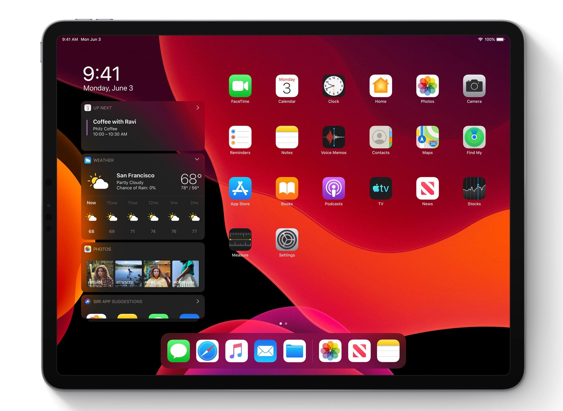 Apple iPadOS Homescreen