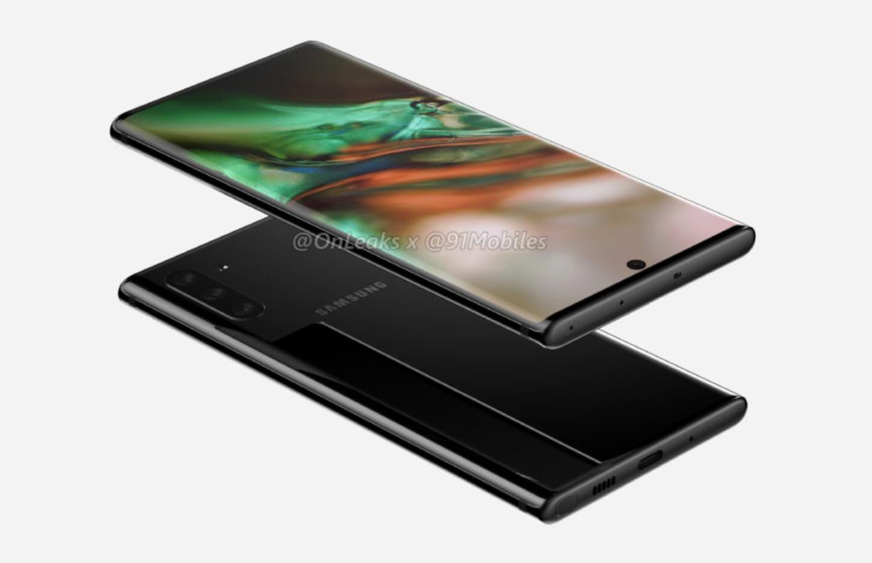 Samsung Galaxy Note 10 Design Leak von OnLeaks