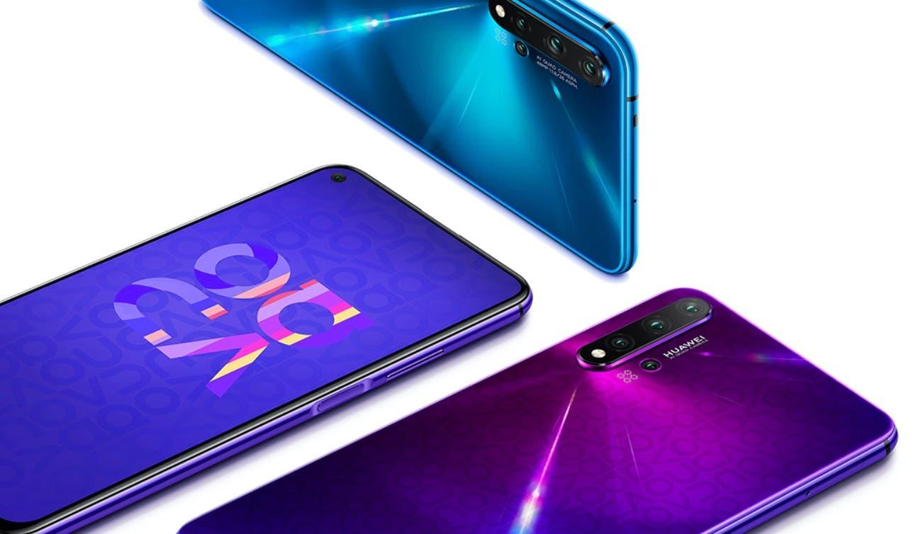 Huawei Nova 5T Design Loch-Notch