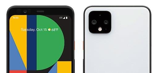 Google Pixel 4 XL Front Back