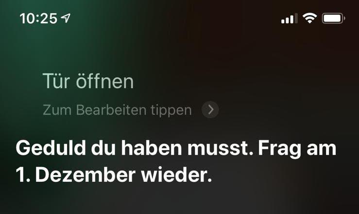 Apple Siri Anfrage
