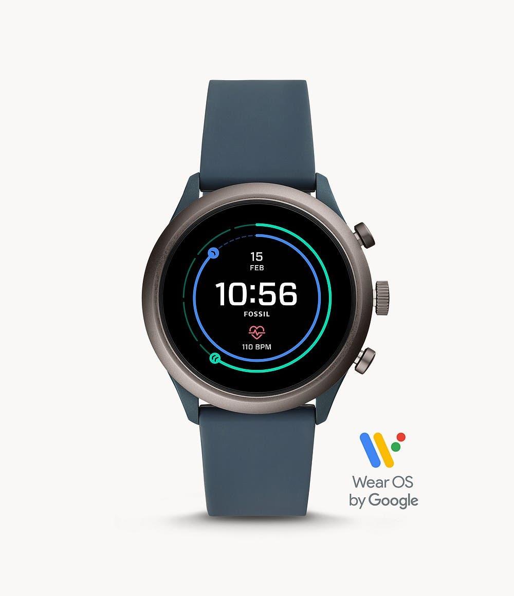 Fossil Sport Smartwatch Rauchblau