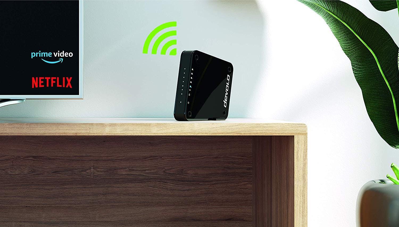 devolo Access Point One Multimedia Allrounder Highspeed Gigabit WLAN Monster 1733 ac 300 n