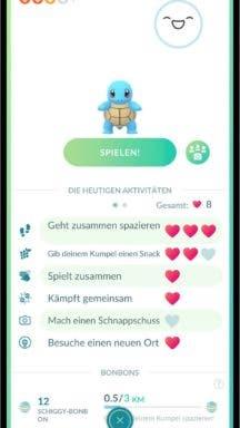 Pokémon GO Kumpel Abenteuer