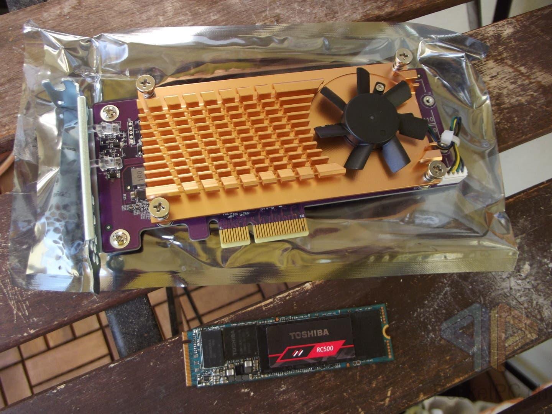 QNAP QM-2P und Kioxia RC500