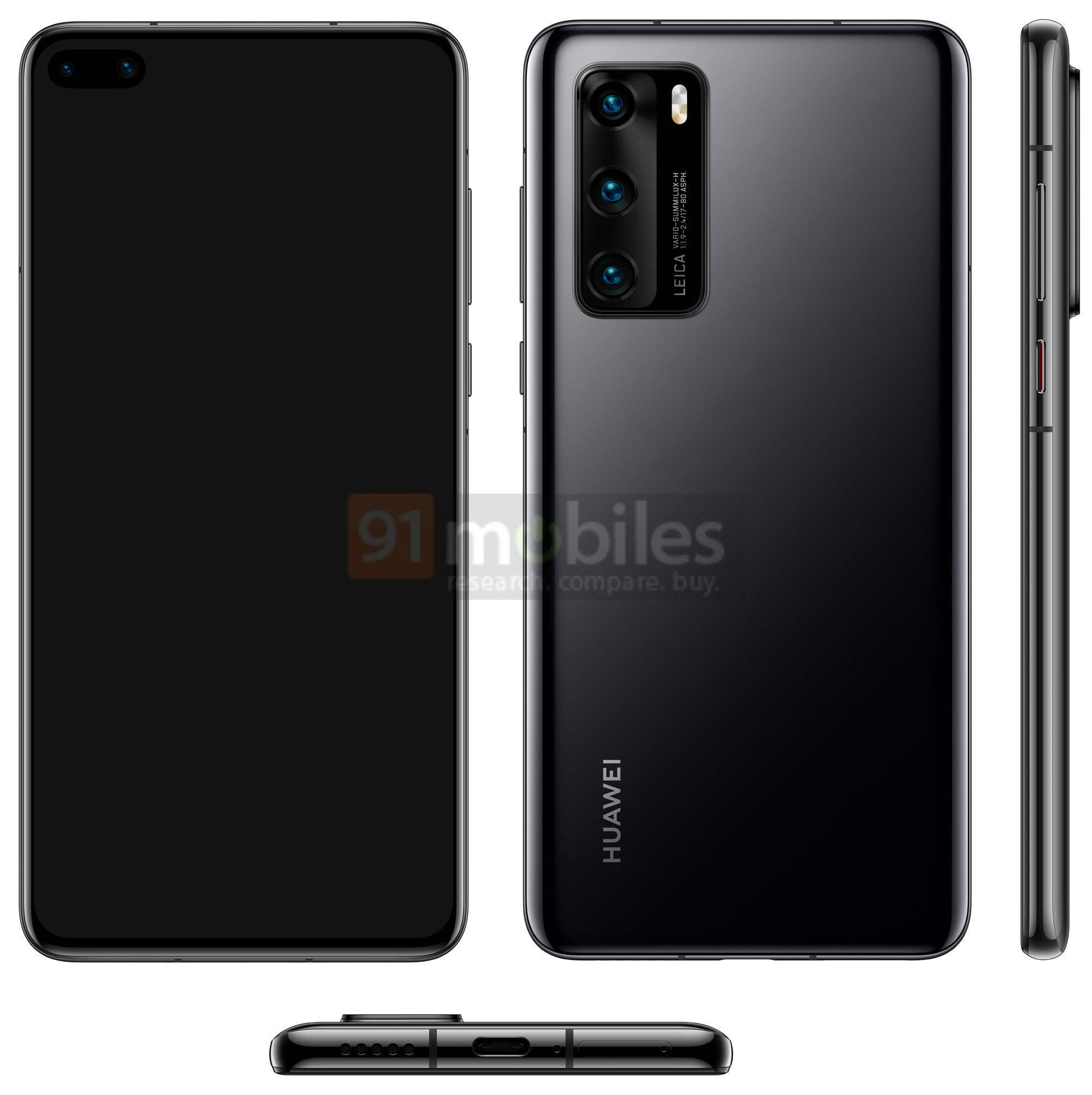 Huawei P40 Design Render-Leak