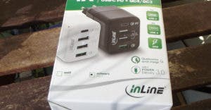 InLine 4X Ladegerät, USB-C PD + QuickCharge 4