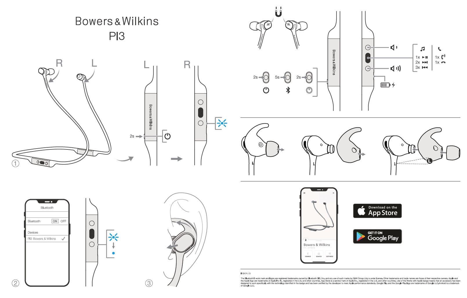 Bowers & Wilkins PI3 Schnellstart-Anleitung