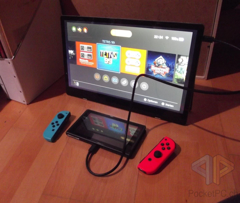 Auvisio mobiler Full-HD-Monitor NX-4650 mit Nintendo Switch