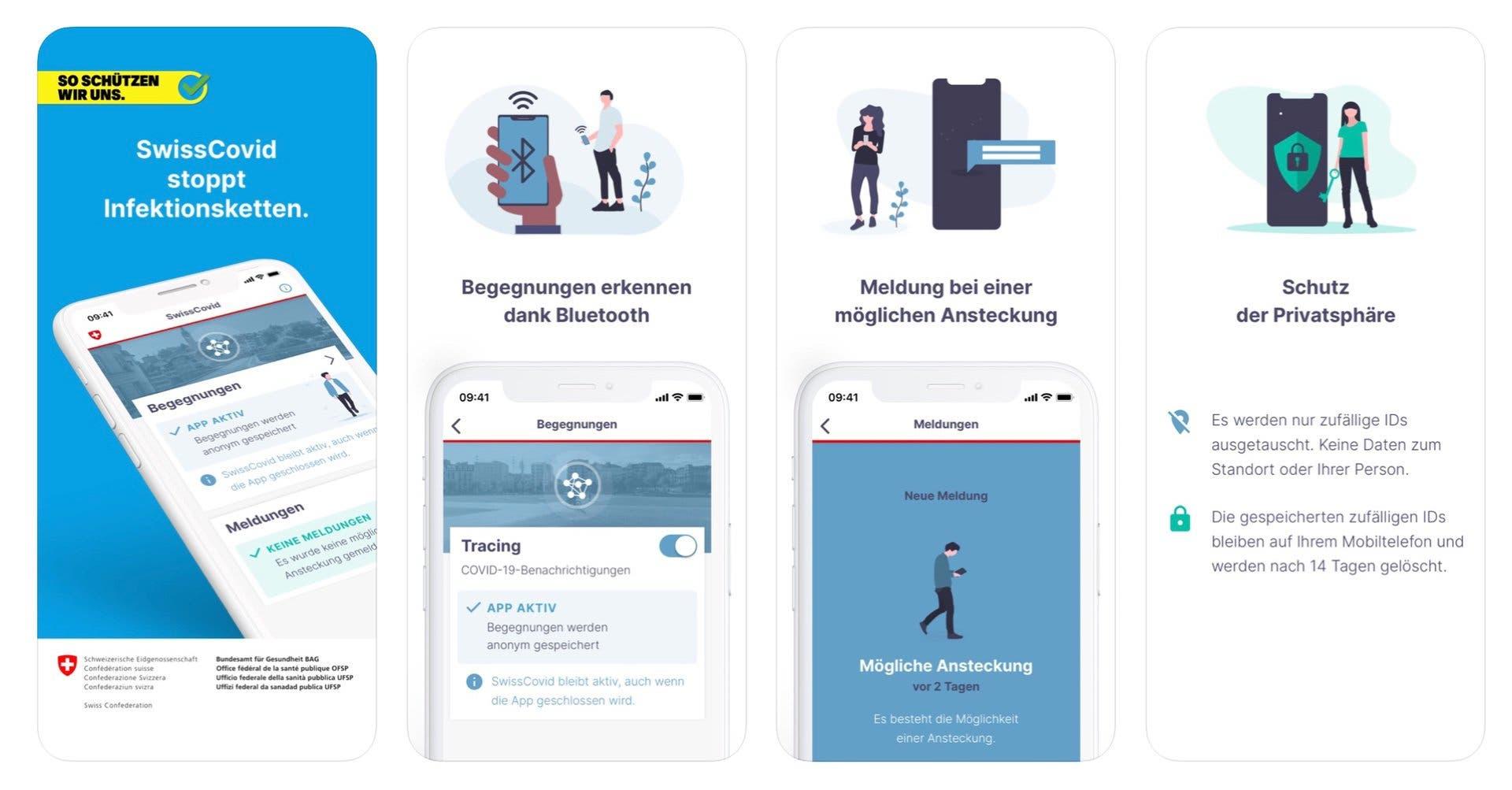 SwissCovid App für die Schweiz