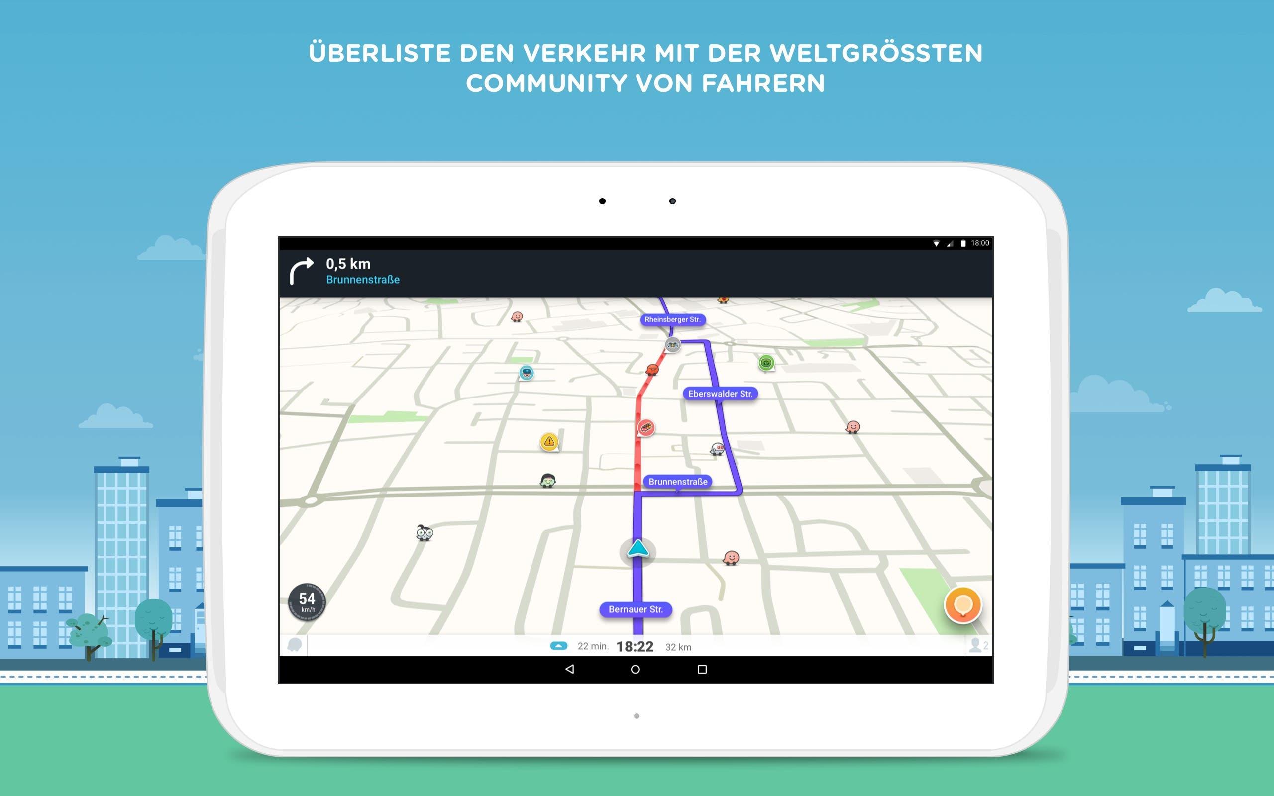 Kostenlose Navi-App Waze