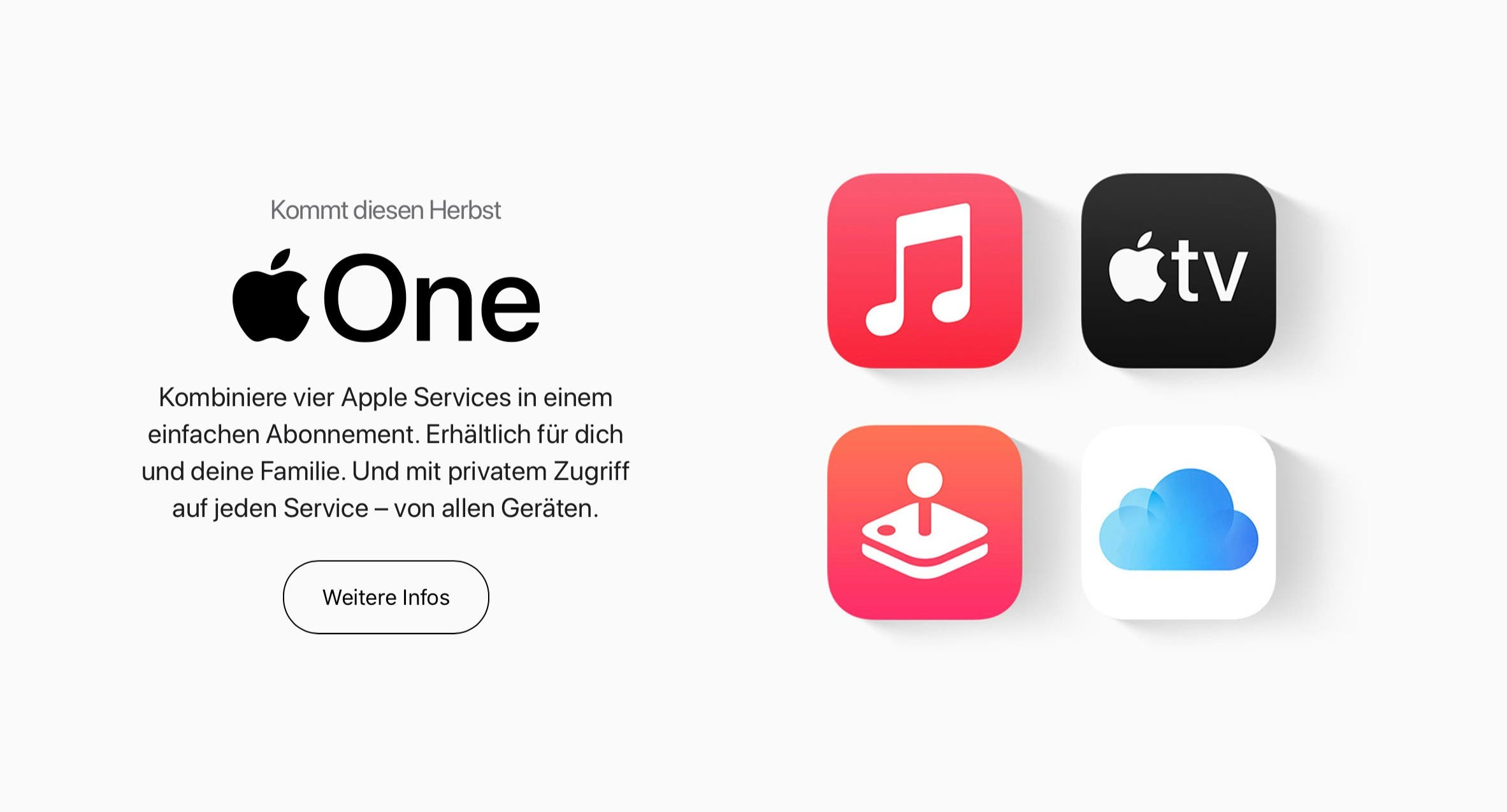 Apple One Abo-Dienste