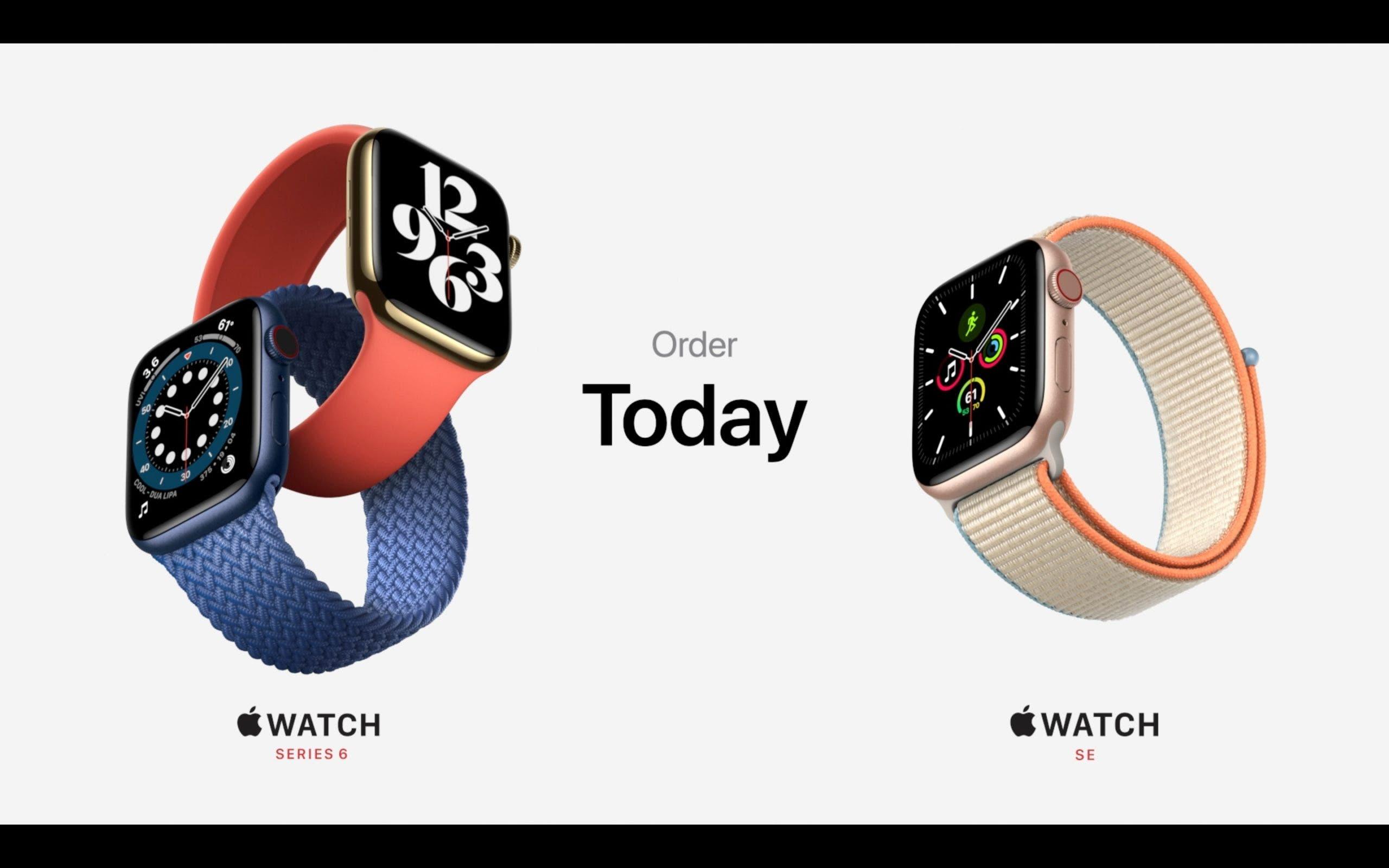 Apple Watch Series 6 und Apple Watch SE