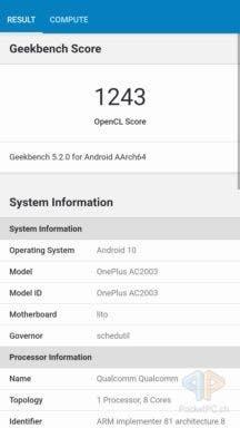 OnePlus Nord Benchmark